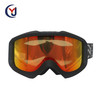 black TPU flexible frame custom anti-fog lens skiing snow boarding goggles with vent foam