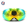 funny ski sport glasses snow boarding goggles with TPU frame and PC anti fog dual lens