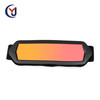 newest high TPU flexible matte black frame mirror red coating sheet anti uv400 lens motorcycle goggles