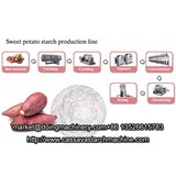 Extraction of starch from sweet potato