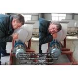 Liberian customer test DOING potato starch production plant machine