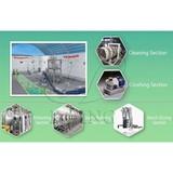 Tapioca starch manufacturing process and machine