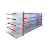 Good quality metal supermarket grocery corner shelf