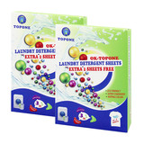 Household cleaner product high activity laundry detergent paper sheets