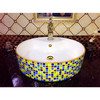 bathroom counter top bling luxury diamond for round ceramic basin