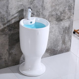 Hot sale ceramic modern deisgn hotel stand big size new one piece bathroom china good quality pedestal basin sink