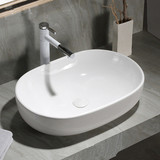 ​Popular tabletop deisgn bathroom no hole Oval design ceramic top mounted sanitary ware wash sink basin from chaozhou