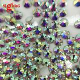 Premium non Hot fix Flat bak Rhinestones Crystal ab for wholesaler