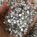 Chinese Factory Premium non Hot fix Flat bak Rhinestones Crystal color for resell