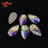 Top grade Sew on Rhinestones Teardrop Crystal ab Available