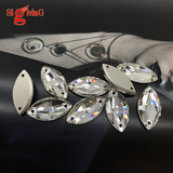 Top grade Sew on Rhinestones Navette Crystal color Available