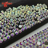 High quality non Hot fix Flat bak Glass Strass Stones Crystal ab for sale