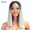 Best selling in US high temperature fiber wigs synthetic hair medium length mix color lace front Yaki wigs