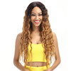 High quality Noble gold Hair Products Lace Front Wigs 31 Inch Long Wavy Dark Root Synthetic Wigs 2 Colors Ombre