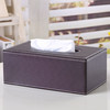 Promotions Home Table Decoration Leather Storage Tissue Box