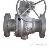 API 6D 2-PC Trunnion Ball Valves, ASTM A216 WCB, Flanged RF, Gear Operator, Class 600, 6 Inch