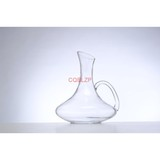 new products 2018 Lead-free Crystal Glass, Red Wine Carafe Round Glass Decanter With Handle