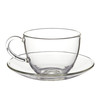 250 ml Food safe Hand Blown Glass Tea Cup and Saucer