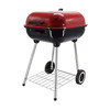 "18"" Trolley Garden Charcoal BBQ Cooking Grill in Red"