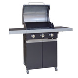 3 buners outdoor grill black bbq gas grill