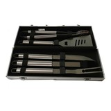 aluminum case 5pcs stainless steel bbq tools set