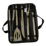 5pcs stainless steel bbq tools set with oxford bag