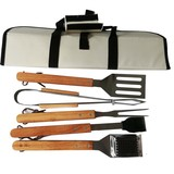 oxford bag 5pcs stainless steel bbq tools set