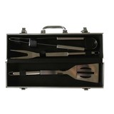 Aluminum Case 3PCS Stainless Steel BBQ Tools Set