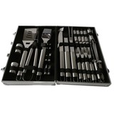 26pcs stainless steel bbq tools set with aluminum case