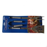 3pcs stainless steel bbq tools set with cardboard