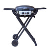 2bunners outdoor camping portable bbq gas grill foldable grill with trolley