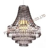 Foshan JNY Lighting Chandelier Style Clear Acrylic Chrome Ceiling Light Shade Easy Fit Pendant Lamp