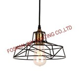 Foshan JNY Lighting Vintage Lamp Shade Retro Industrial DIY Black Metal Bird Cage Light Shade for Pendant Lights