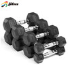 Gym Equipment Weight Lifting Rubber Coated Hex Dumbbell