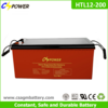 Rechargeable 12v 200ah Deep Cycle Gel Solar Battery
