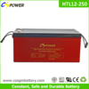12v 250ah Deep Cycle Solar Gel Battery for Solar Panel