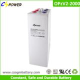 Rechargeable 2V 2000AH OPzV Tubular Gel Battery