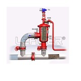 PLC control carbon steel waste water backwishing automatic self-cleaning water filter unit