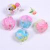 Three color bath sponge Add the sponge and colorful bath ball