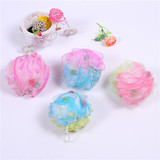 Three color bath sponge Add the sponge and colorful bath ball