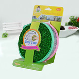 Hot selling colorful daily necessities big round size double layer custom made kitchen cleaning sponge