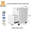 Metal 3 drawer mobile file cabinet movable pedestal cabinet