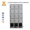 Lockable office staff clothes storage cabinet 15 door metal locker