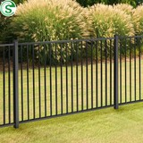 Commercial ornamental prefeb panels galvanized steel picket fence