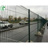 Powder coated double wire mesh fence for sale used for roads