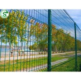 Powder coated ornamental double loop wire fence for sale