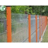Powder coating welded zinc steel fence 4mm