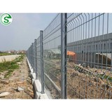Easily assembled galvanized welded wire fence panels