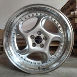 18寸5x100改装轮毂银色