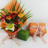 Fresh embossed party decoration gift packing fabric flower wrapping paper